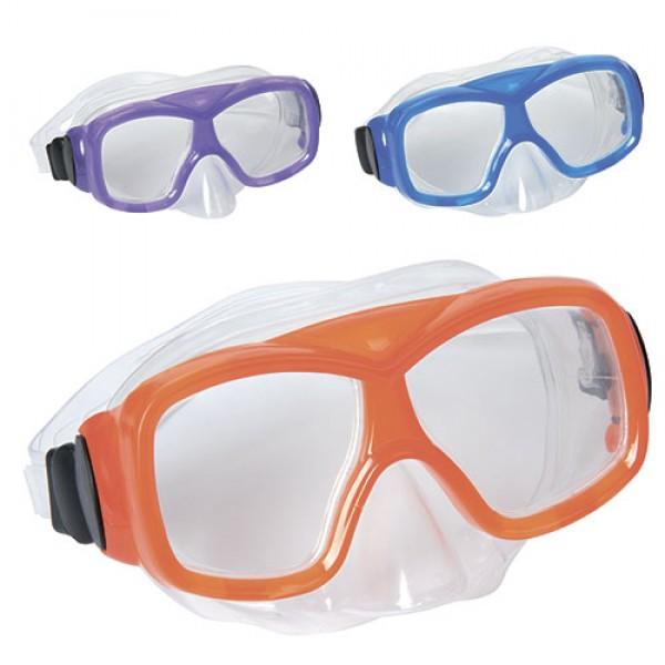 10071 BW Маска 22039 (12шт) для плавания, 3 цвета