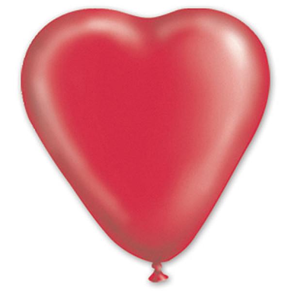 """26627 1105-0014 Кулька КП Серце 10"""" кристал червоне/Іт 100шт/упак 1105-0014 GEMAR"""