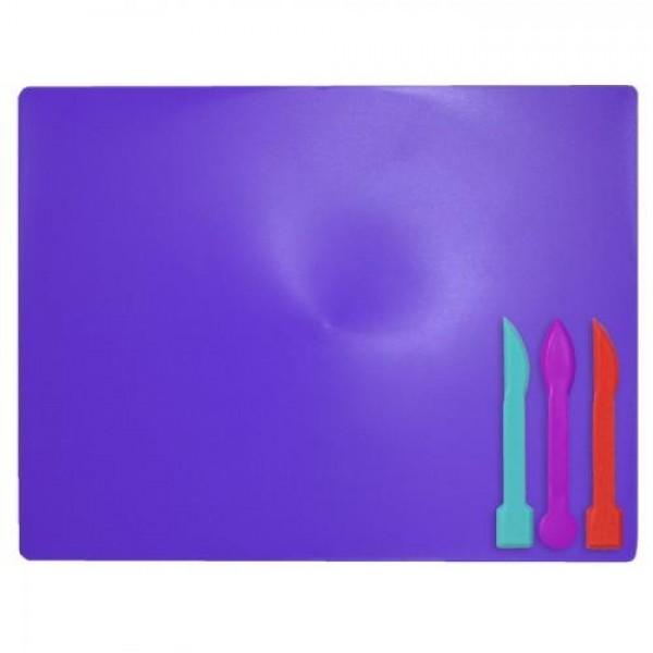 33726 /Дощечка для пластиліна, 3 стека, фіолетовий