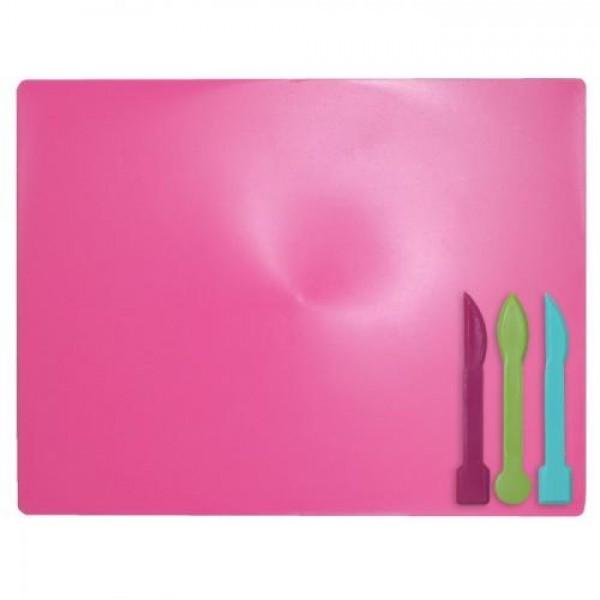 10756 /Дощечка для пластиліна, 3 стека, розовий