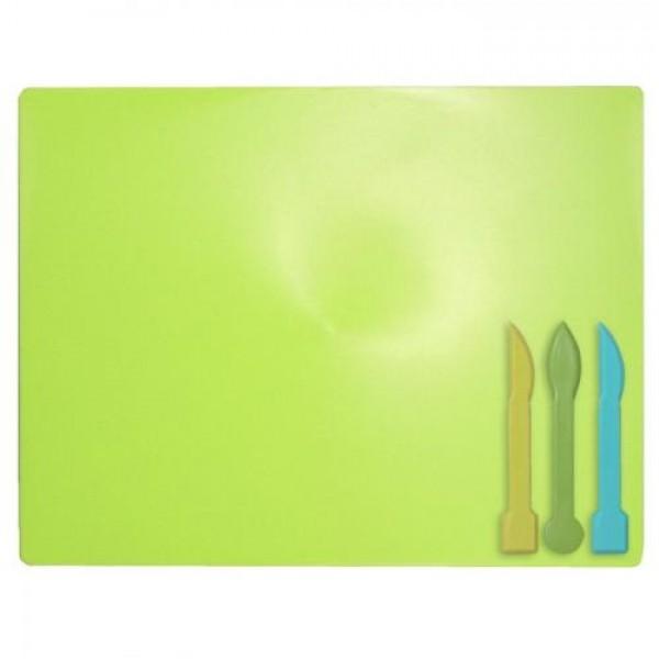 33727 /Дощечка для пластиліна, 3 стека, салатовий