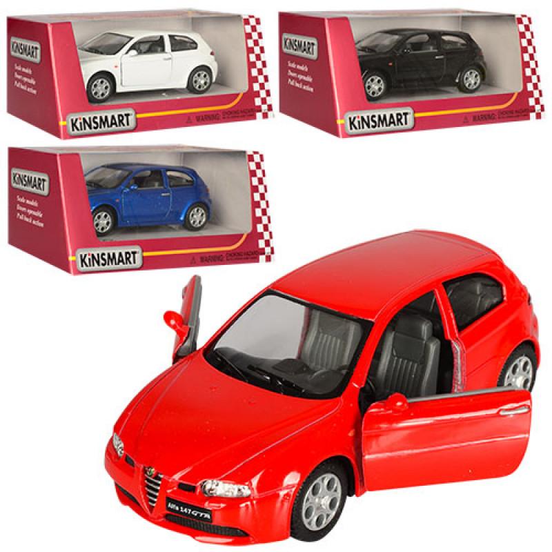 26032 Машинка KT 5085 W (24шт) металл, инер-я, 12,5см, откр двери, 4цв, в кор-ке, 16-7-8см