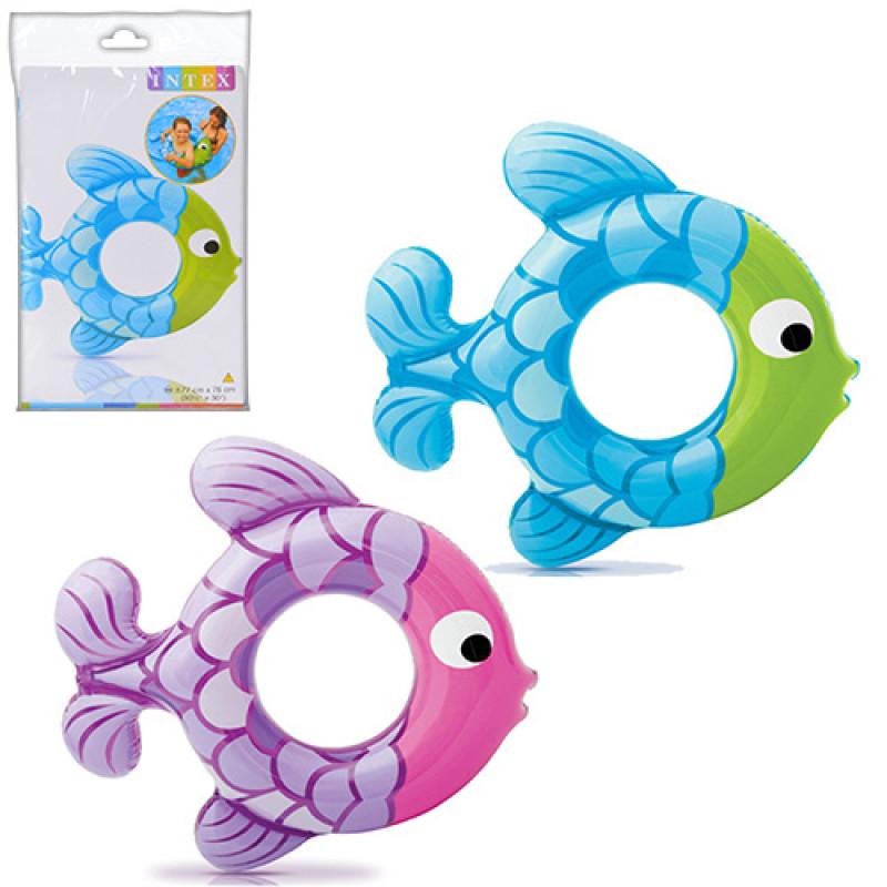 3142 Круг 59222 (36шт) в форме рыбки, 77-76 см, в кульке, 24,5-16см