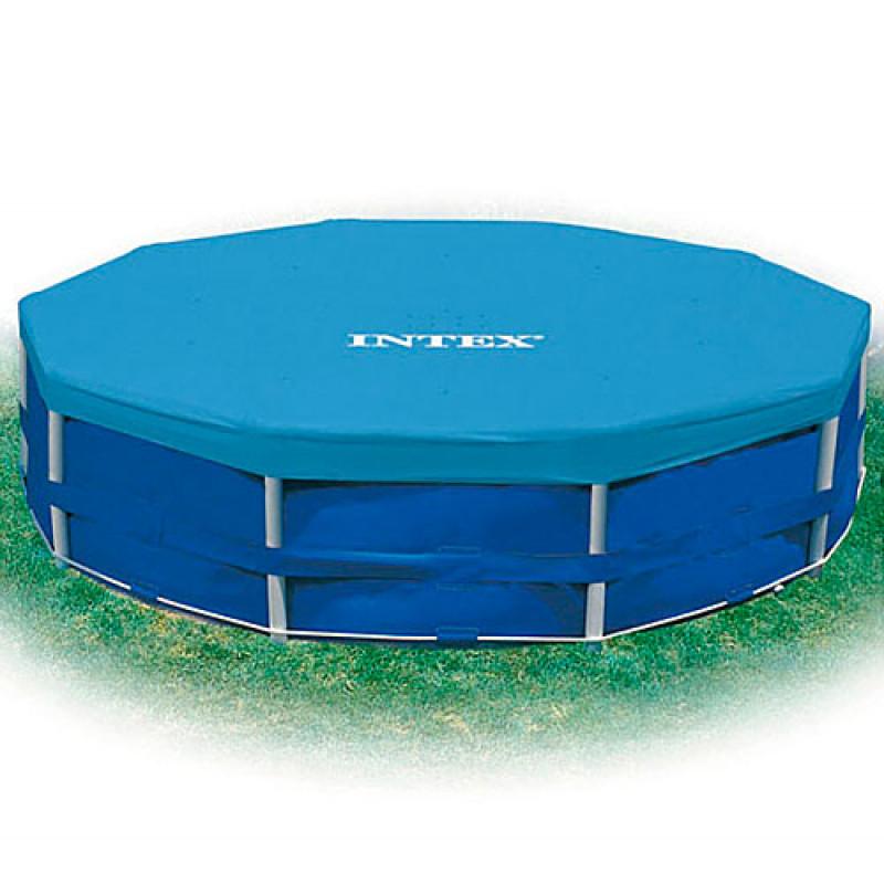 3111 Тент 28031 (6шт)  для круглых каркасных бассейнов, диаметр 366см, в кор-ке, 30,5-27-10см