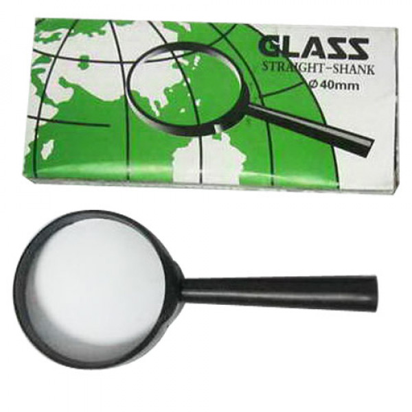 "892 40-YB (YB19013-40) Лупа d-40мм ""Glass"", пластик.оправа"