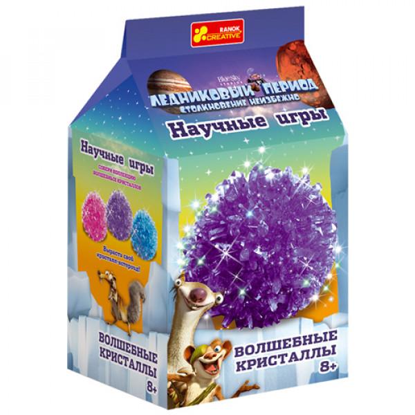 """2033 0276 Набор для опытов """"Волшебные кристаллы. Фиолетовый. Ледниковый период"""". 12177008Р"""