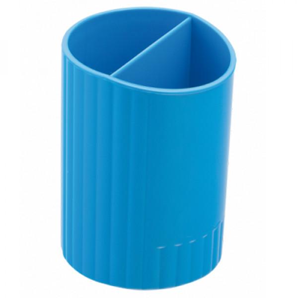 15732 /Пiдставка для ручек кругла на два вiддiлення, синiй