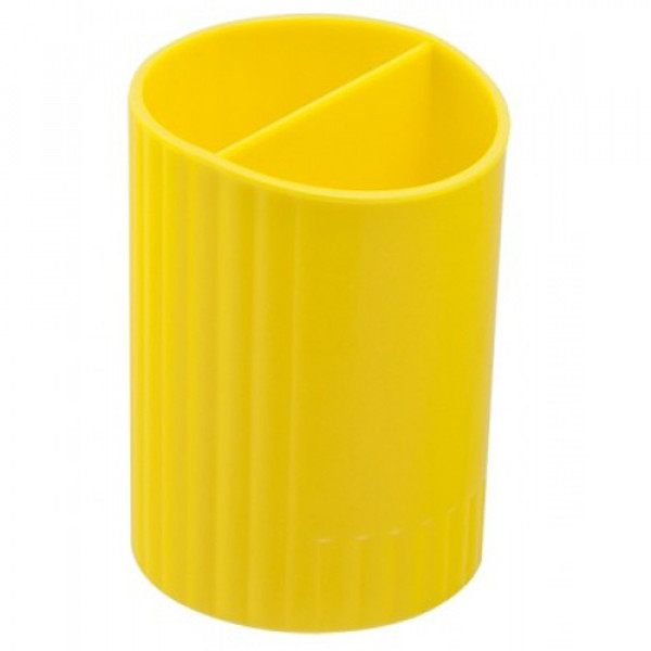 15730 /Пiдставка для ручек кругла на два вiддiлення, жовтий