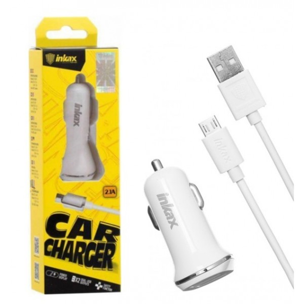 108866 Автомобильное зарядное устройство INKAX CD-12 Car charger + Micro cable 2USB 2.1A