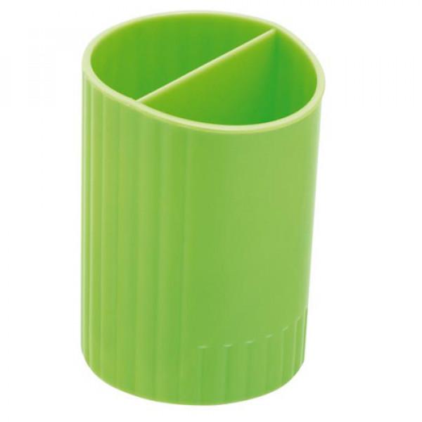 10780 /Підставка для ручек кругла на два відділення, салатовий