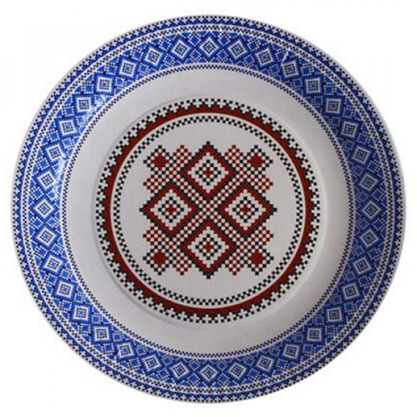 9735 1502-3128 Тарілка пап. українска колекцїя МІКС D23см 10 од.
