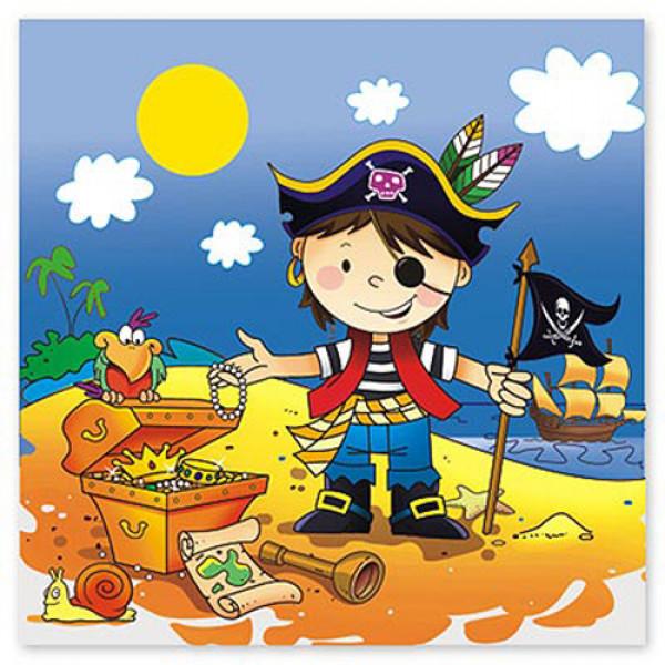 5809 1502-1284 Салфетка Маленький пират 33см 12ед/ДЖ