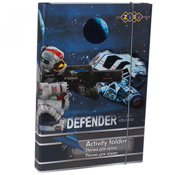 8546 /Папка для праці DEFENDER, картонна, на гумках А4+ (315х215х30мм)