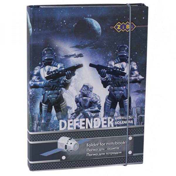 27927 /Папка для зошитів DEFENDER, картонна, на гумках В5+ (175х240х25мм)