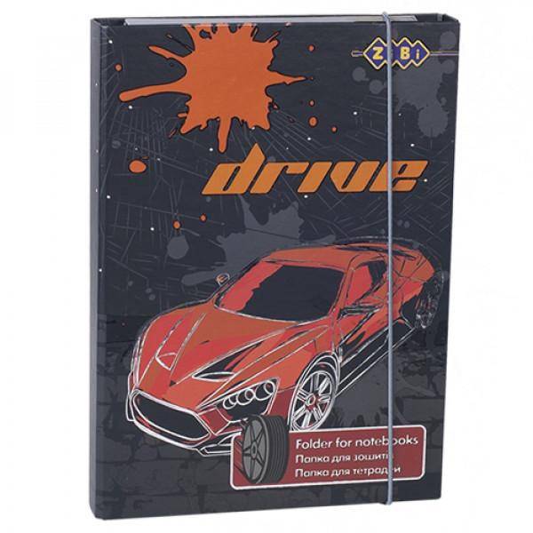 27919 /Папка для зошитів DRIVE, картонна, на гумках В5+ (175х240х25мм)