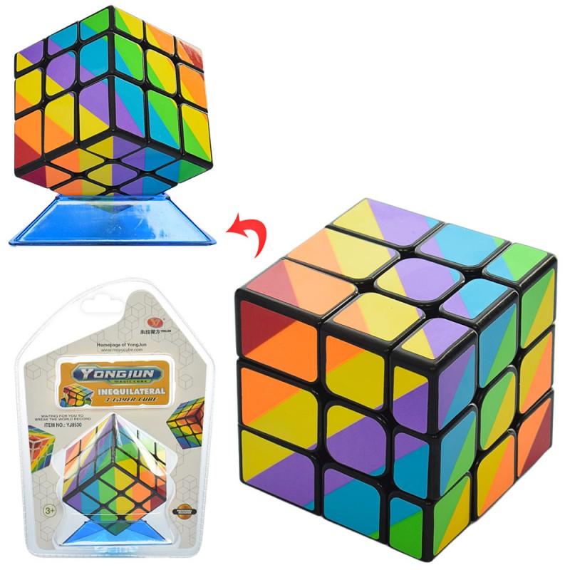 62479 Кубик YJ8530 (60шт) 3х3, 5,5-5,5-5,5см, в слюде, 15-21-7,5см