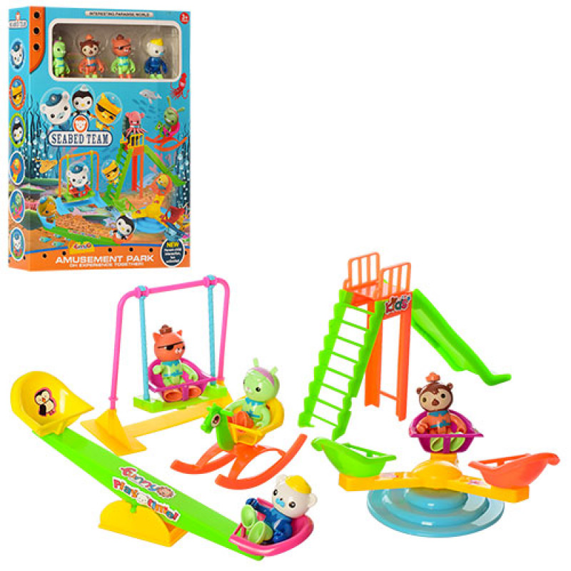 30628 Набор игровой ZY-708 (48шт) OC, детская площадка, фигурка 4шт, 6,5см, в кор-ке,25,5-35-6,5см