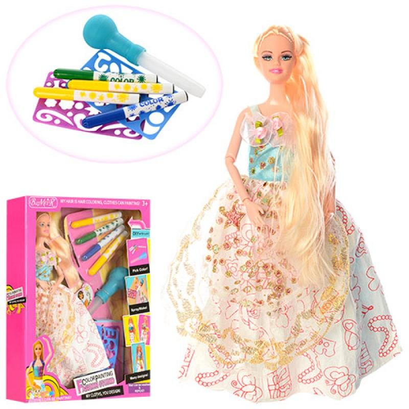 Трафарет кукла в платье