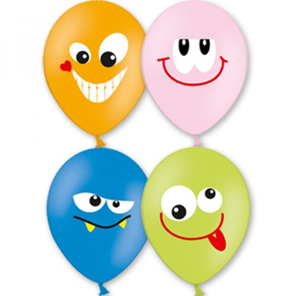 """5807 1103-1212 Кулька з малюнком 14"""" Посмішка 3кол 25шт/упак"""