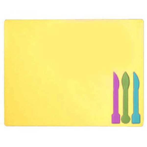 2057 /Дощечка для пластиліна, 3 стека, жовта