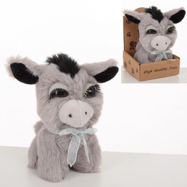 71154 М'яка іграшка MET10098 ослик, 13 см., кор.