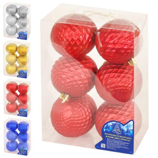 13163 Ялинкові кульки 7см 6шт/кор, 8431