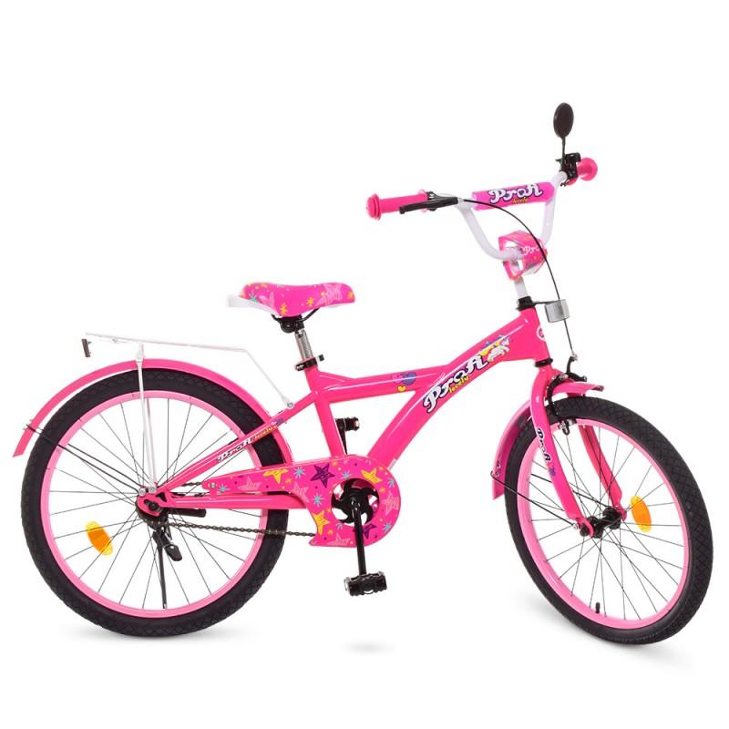 74125 Велосипед детский PROF1 20д. T2062 (1шт) Original girl,малиновый,звонок,подножка