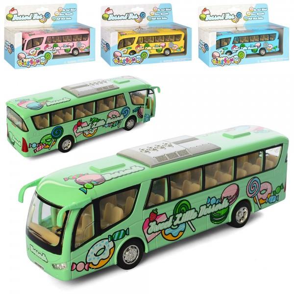 58391 Автобус KS7103W мет., інерц., гум.кол., відчин.двері, 4 кольори, кор., 20,5-13-5 см.