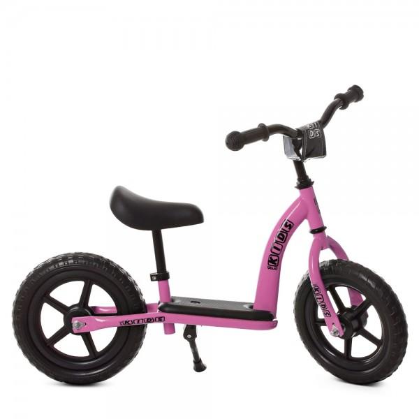 100903 Беговел детский PROFI KIDS 12д. М 5455-5 (1шт) колEVA,пласт.обод,подст.для ног,подн,нежн.розовый