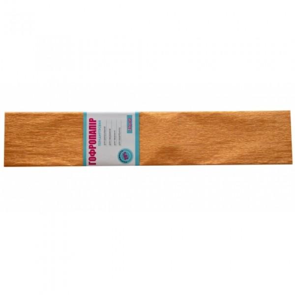 86787 Бумага гофр. 1Вересня перлам. светло-коричневая 20% (50см*200см)