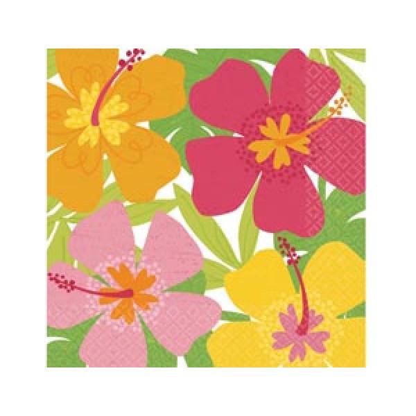 15745 2005-0567 Салфетка Гаваи Цветы 33 см 16 ед.