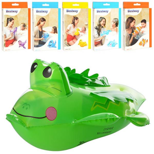 20096 Іграшки надувні BW 34030 6 видів (рибки, качечка, крокодил, дельфін, кит, тюлень), кор., 12-19,5-2см
