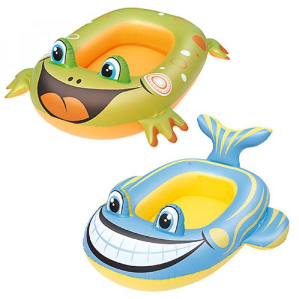 1815 BW Плотик 34085 (36шт) надувной, 99-66см, 2вида (рыбка, лягушка)