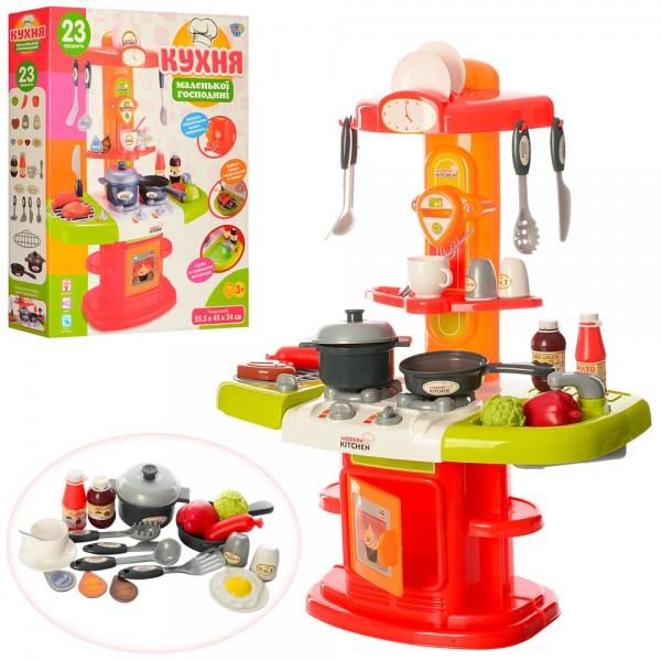 29053 Кухня 16808 (8шт) плита,духовка,мойка,посуда,продукты,24предм,зв,св,на бат-ке,в кор-ке,54-45-10,5см