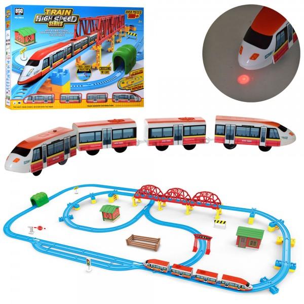94915 ЖД 789-6 (8шт) 109,5-96см, локомотив2шт,14см-едет,вагоны2шт,звук,свет,на бат-ке, в кор-ке,62-46-10см