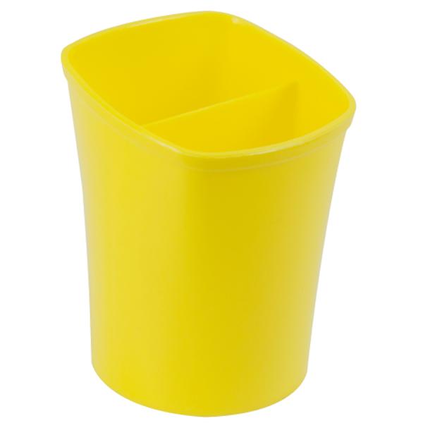 48243 /Стакан для письмового приладдя KVADRIK квадратний на два відділення, жовтий