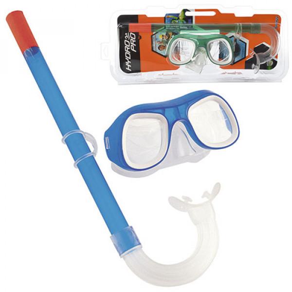 21444 BW Набор для плавания 24007 (6шт) маска + трубка, от7-ми лет, 2 цвета, в слюде, 42,5-19-7см