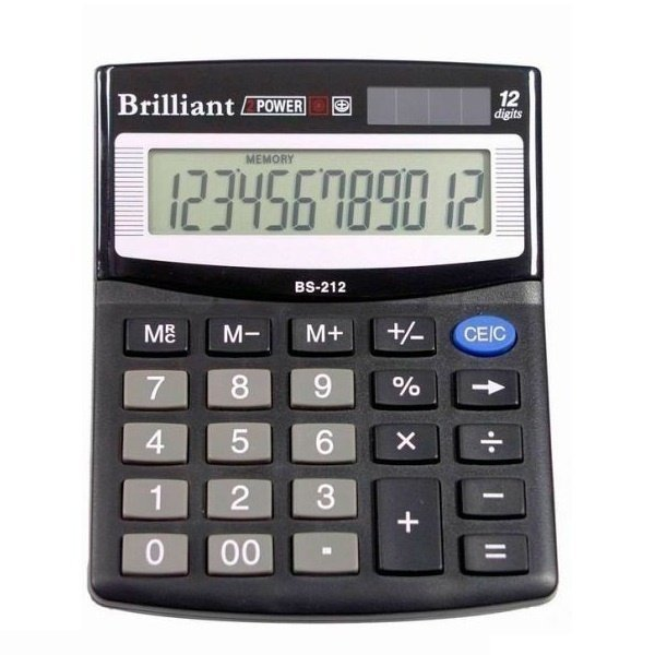 48252 /Калькулятор BS-212 12р., 2-пит.