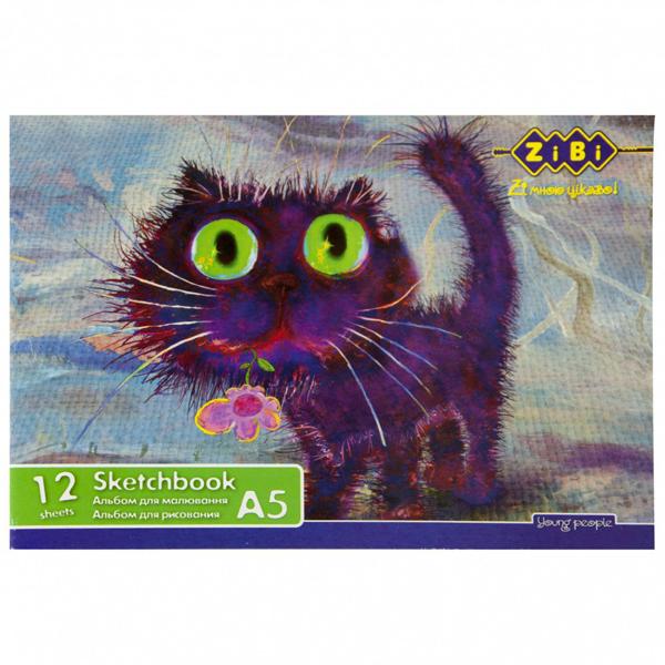 28545 /Альбом для малювання А5, 12 аркушів, скоба
