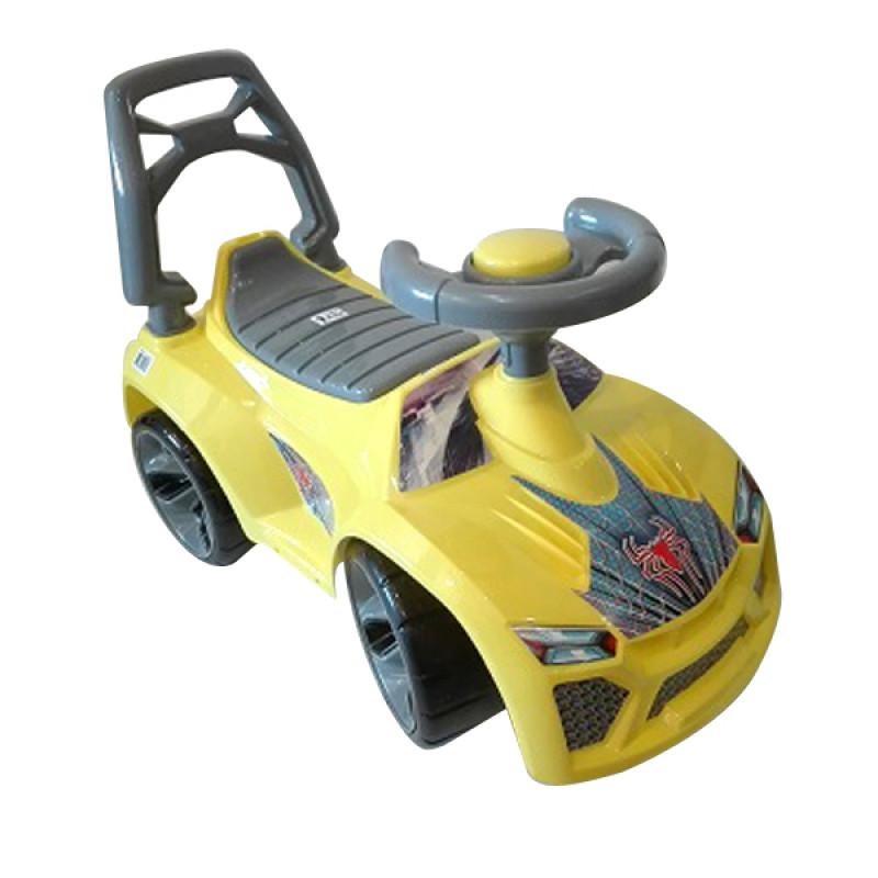 29844 Машинка для катания ЛАМБО лимон ОРИОН 021 (700x280x450 мм)