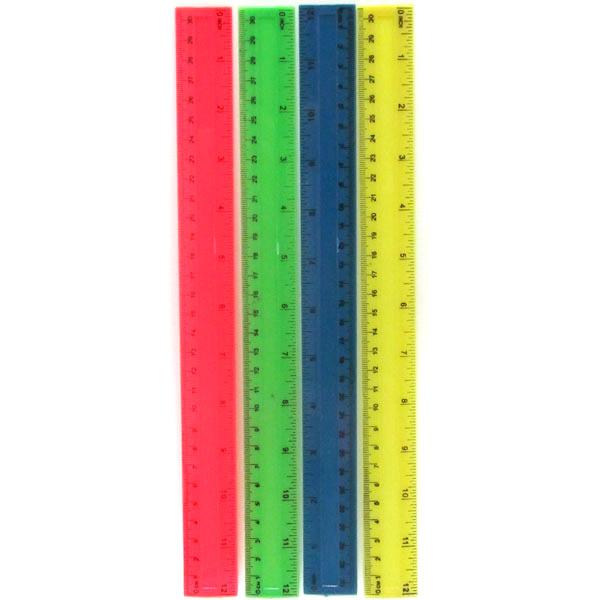 37070 3493-30 Линейка пластиковая, 30 см, непрозрачная, mix