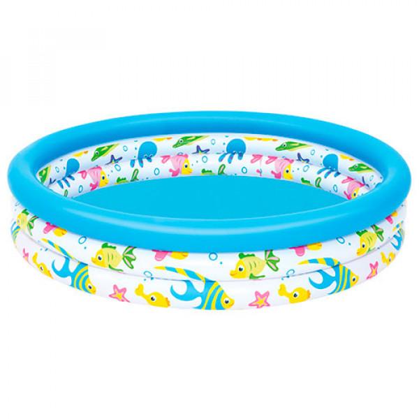 519 BW Бассейн 51009 (12шт)  детский, надувной,круглый, 122-25см, 3 кольца, в кор-ке,