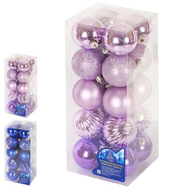 13215 Ялинкові кульки 6см 20шт/кор, 8524