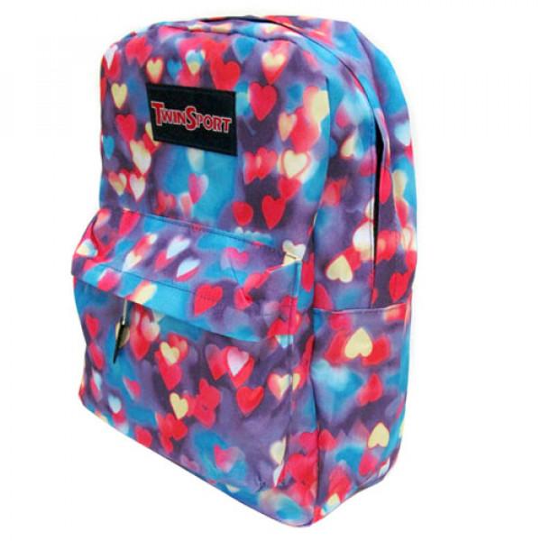 "21693 6018 Рюкзак з кишенею ""Hearts"" 42х30х13см"