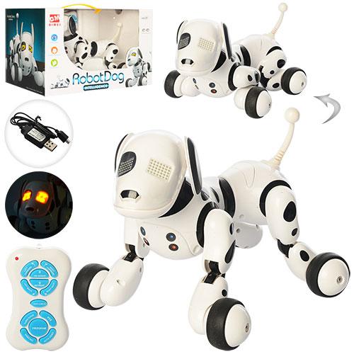 Собака 9007A радіокер.,  акум.,  їздить,  перевертається,  USB,  муз.,  світло,  кор.,  34-22-22 см.