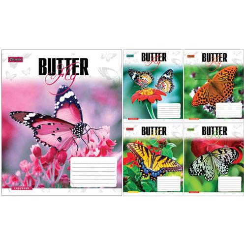А5/36 кл. 1В Butterflys-17 тетрадь ученич.