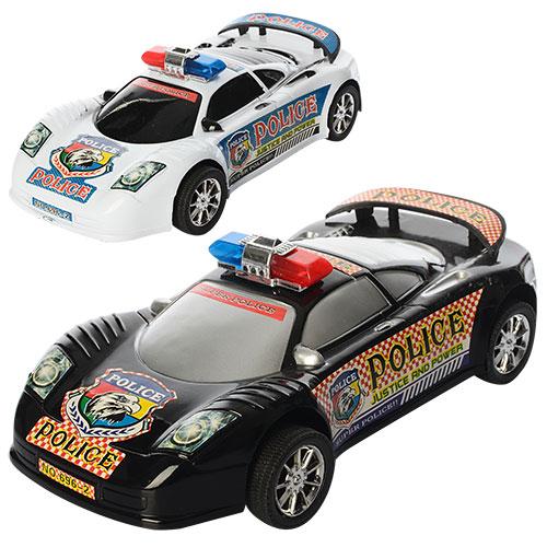 Машинка 696-2  инер-й,  полиция,  24см,  2цвета,  в кульке,  27-12-5, 5см