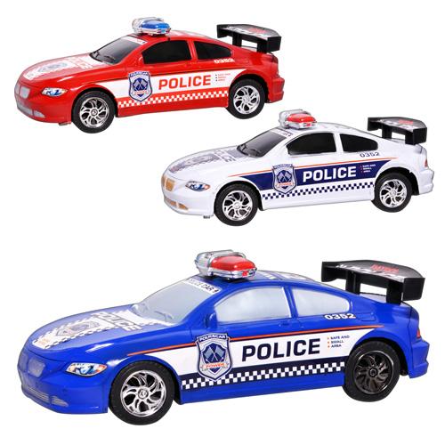 Машинка 2998  инер-я,  полиция,  3 цвета,  в кульке,  37-16-13, 5см