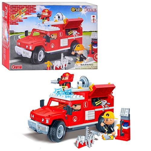 Конструктор BANBAO 8316  пожарная машина,  242 дет,  фигурки 3шт,  в кор-ке,  33-24-7см