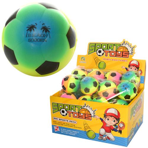 М'яч дитячий фомовий E3002 7 см.,  футбол,  веселка,  24 шт. в диспл.,  29, 5-22, 5-15 см.